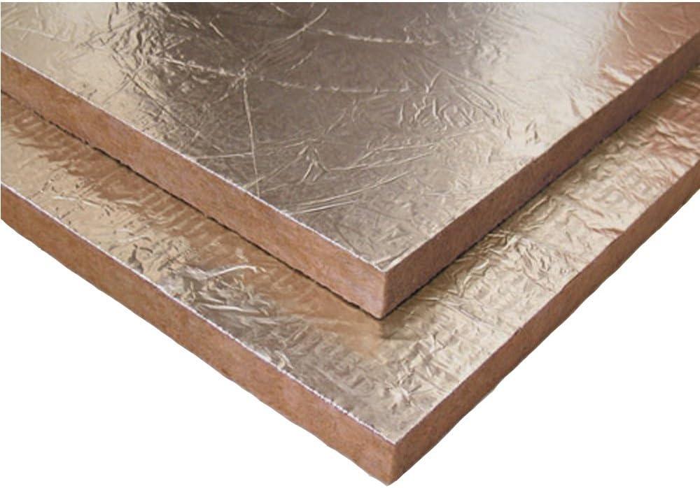 Sainter Caja de 10 Placas Lana de Roca,Especial para Aislamiento chimeneas,Gran Densidad 100kg/m3