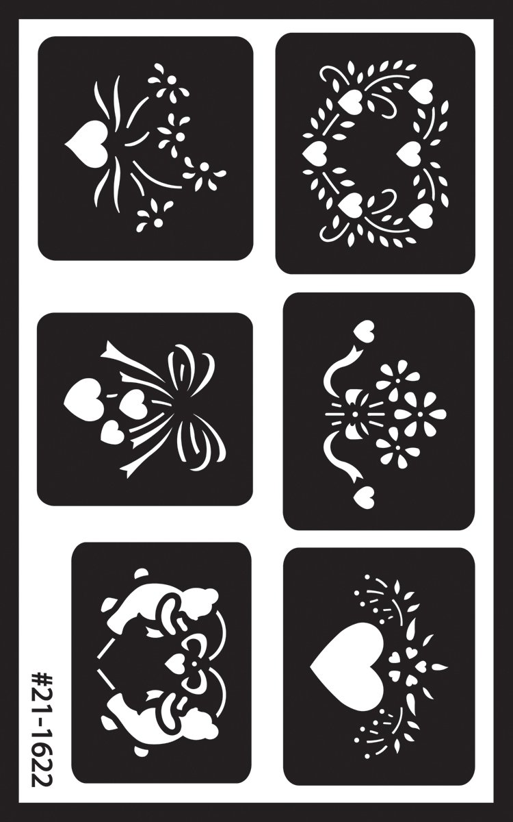 Armour Etch Over N Over Stencil Assorted