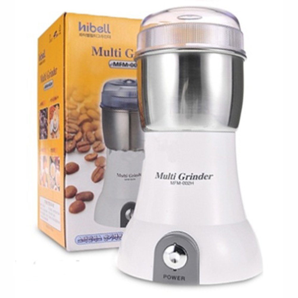 Hibel MFM-002H Electric Multi coffee bean Coffee Grinder Mixer stainless container seasoning spice 220V by Hibel