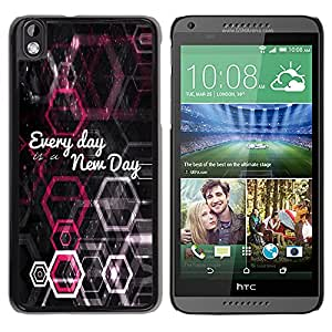 Paccase / SLIM PC / Aliminium Casa Carcasa Funda Case Cover para - BIBLE Every Day Is A New Day - HTC DESIRE 816