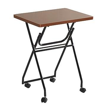 Homcom Folding Table TV Dinner Laptop Table Tray Desk Exam Study Table  Class Room Desk With
