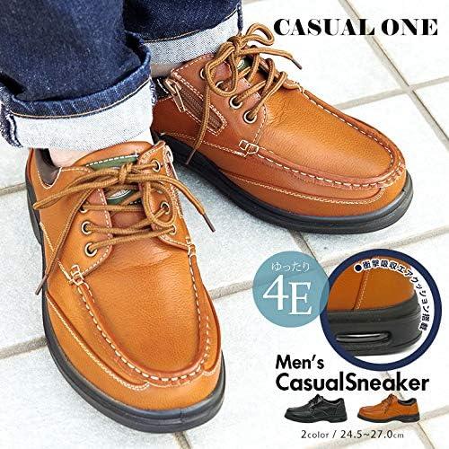 カジュアルワン CASUAL ONE カジュアルシューズ メンズ ビジネス 4e サイドファスナー 幅広