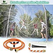 Trampoline Sprinkler, 360 Degree Rotating Sprinkler for Trampolines for Kids, Summer Water Park Fun Trampoline