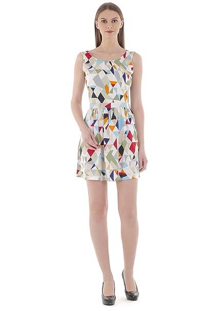 679031532b Umangutsav Stylish Crepe Multi Color Frock Criss Cross Back Dress For Women  & Girl ( Short