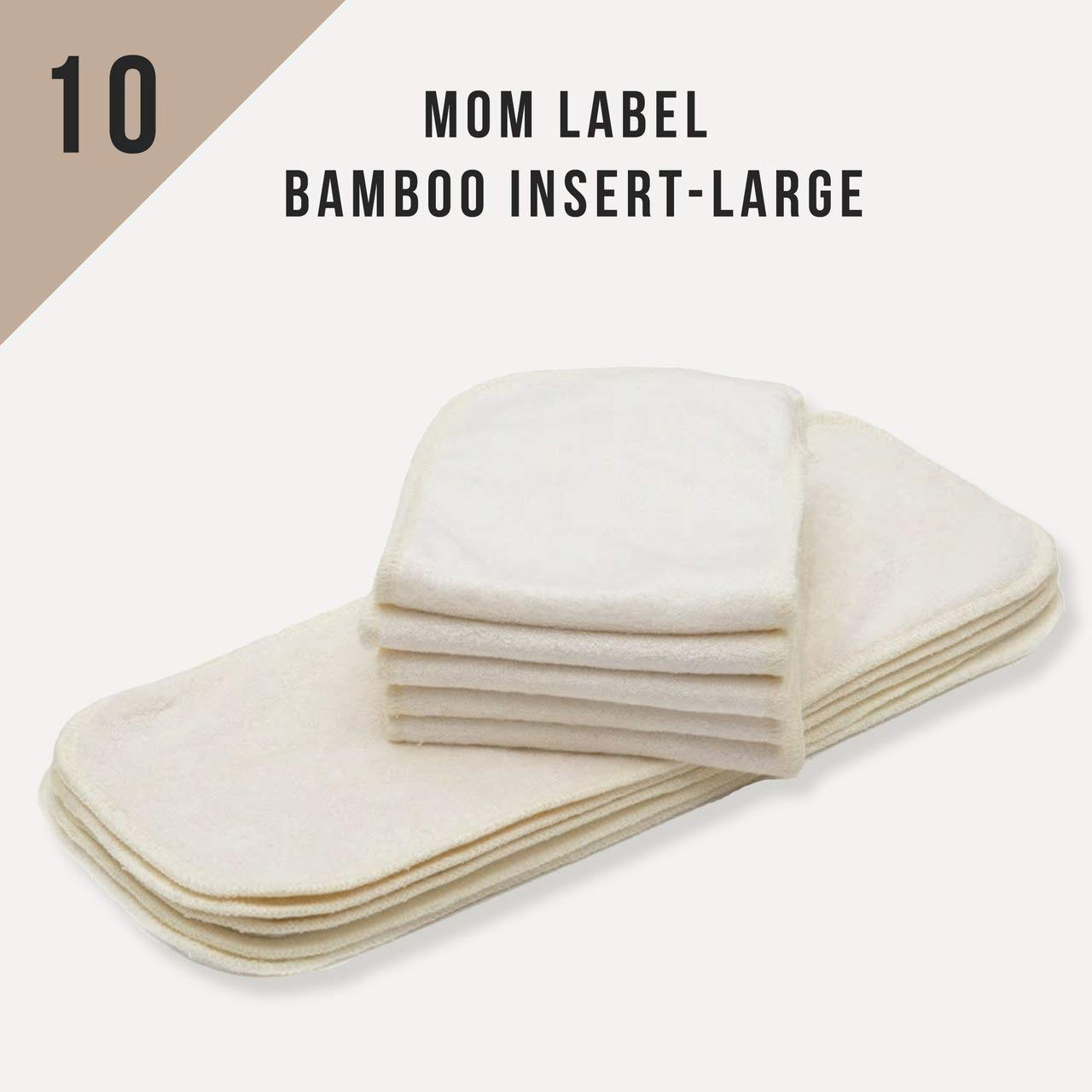 6 BABYGOAL 3-Layer Bamboo Cloth Diaper Inserts For Reusable Pocket Cloth Diaper