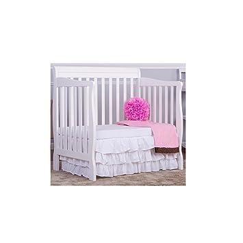 Amazon.com : Aden Convertible 4-in-1 Mini Crib White Bed Baby ...