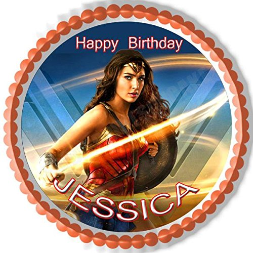 Wonder Woman 2 B Edible Cake Topper & Cupcake Toppers - 7.5