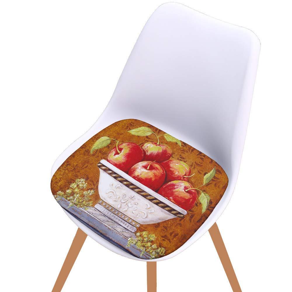 Mome ʕ •ᴥ•ʔSofa Chair Cushion ʕ •ᴥ•ʔ 1PC Digital Printing Cotton Seat Pad Outdoor Dining Room Garden Kitchen Chair Cushion Home Decor Ornaments -Machine Washable (D)