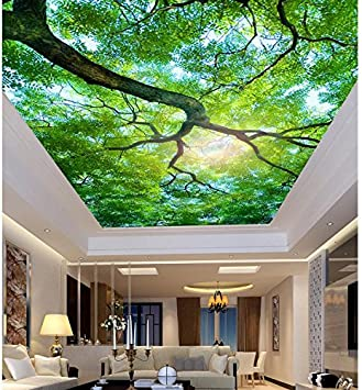 Lwcx Wallpaper 3d Mural Wall Decoration Tree Living Room Bedroom