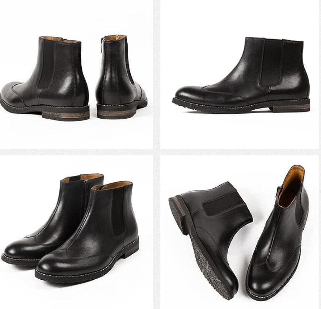 GTYMFH Herbst Leder Herrenschuhe Chelsea-Stiefel Lederstiefel Vintage Chelsea-Stiefel Herrenschuhe e08db7