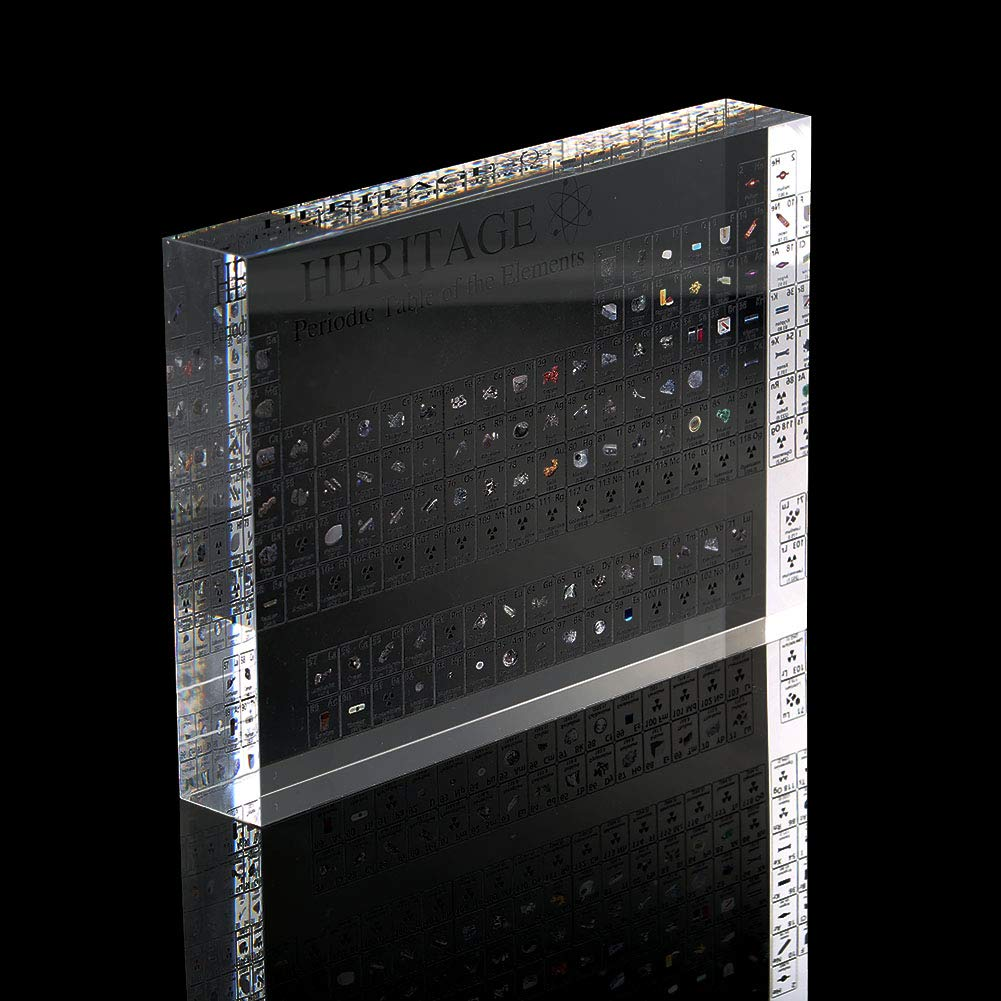 Avalita Acrylic Periodic Table Display with Elements Teacher Students Gifts Crafts Decor Portable Periodic of elements
