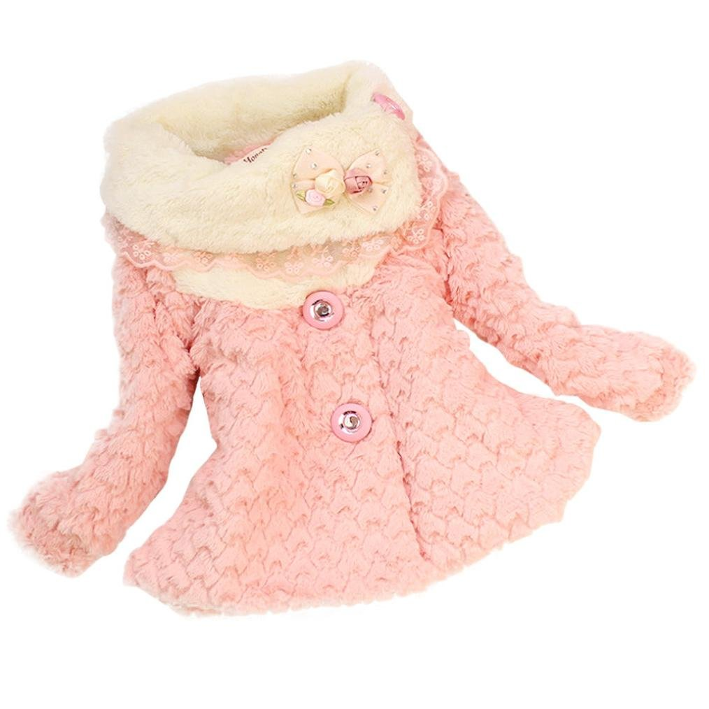 Koly® Baby Girls Kids Toddler Floral Outwear Clothes Winter Jacket Coat Snowsuit