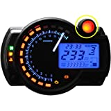 15000rpm universal motorcycle digital lcd km h mph speedometer odometer tachometer. Black Bedroom Furniture Sets. Home Design Ideas