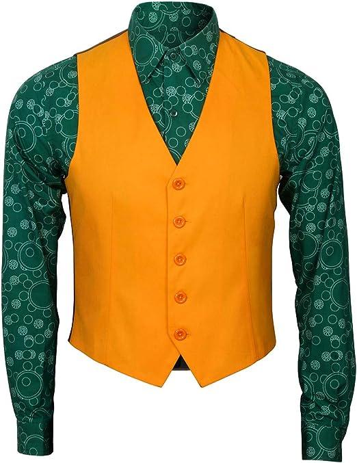 NUWIND - Disfraz de Joker para Hombre y Adulto, Vestido de Payaso Caballero para Disfraces Halloween Cosplay Fancy Dress (XXL, Camisa + Chaleco): Amazon.es: Productos para mascotas