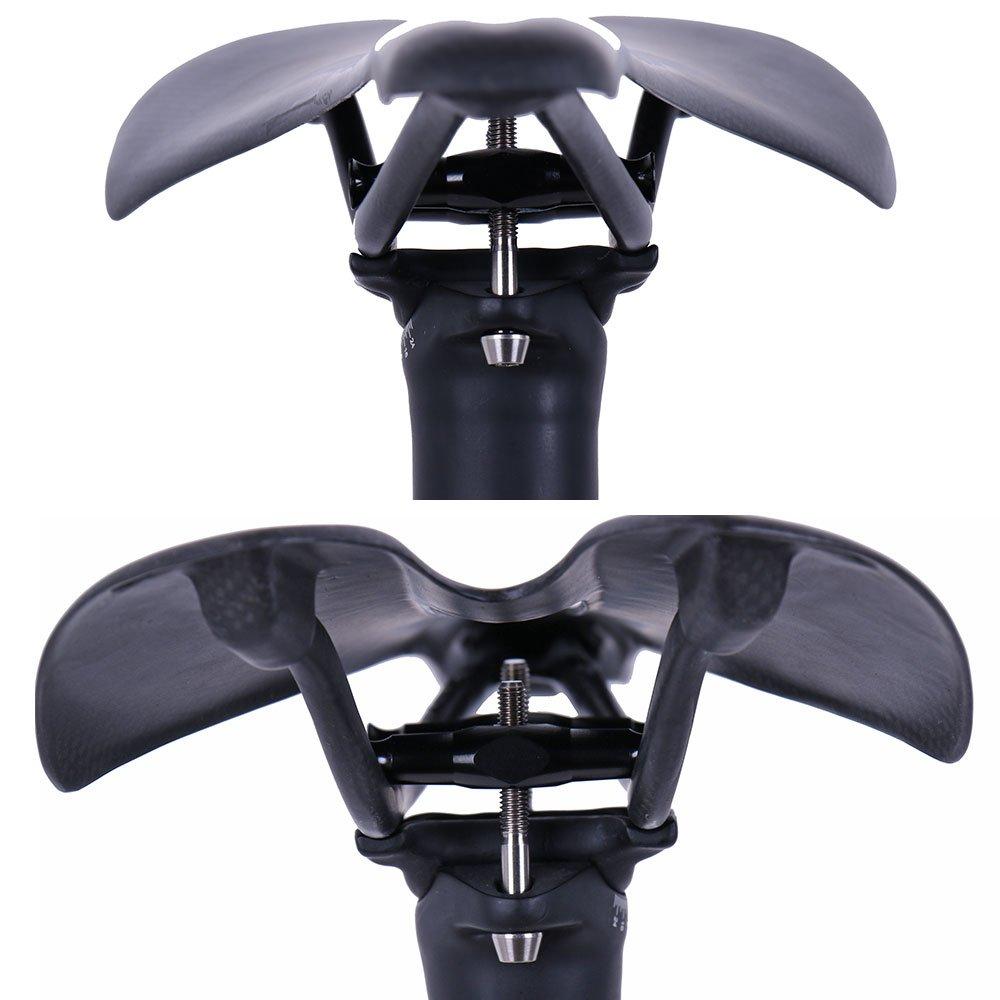ELITA ONE Carbonio reggisella 27.2//31.6/×350//400mm Bici da Strada//Mountain Bike Ciclismo Sellini Reggisella Offset 0/°//7/° UD Matt Verde Logo