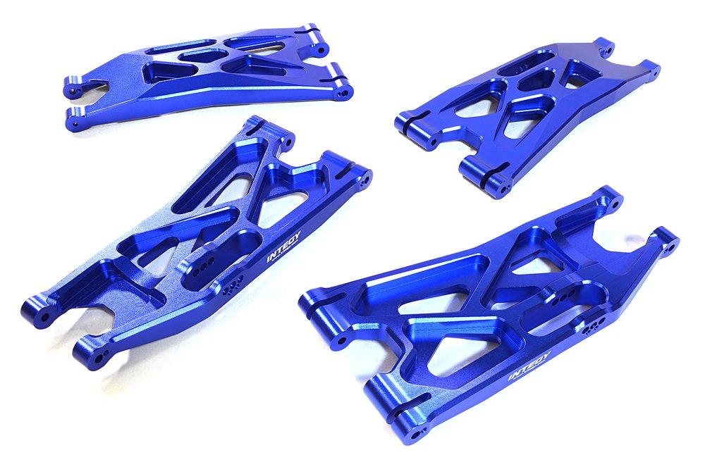 Integy RC C27195BLUE - Brazos de suspensión inferior para Traxxas X-Maxx 4X4