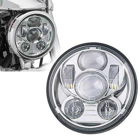 Amazon Com 5 3 4 5 75 Inch Projector Led Headlight For Harley