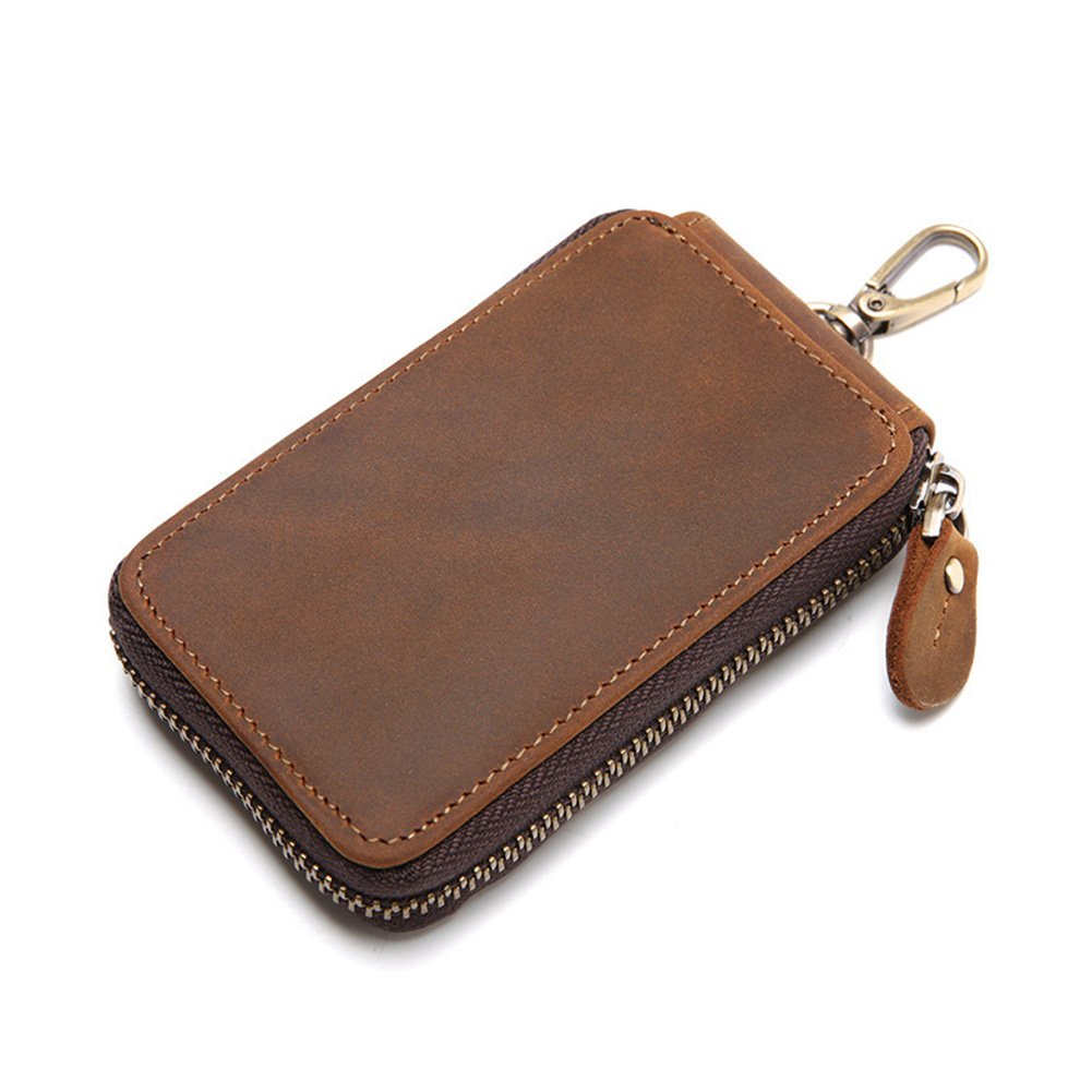 d9dbe2ac68be Amazon.com: MuLier Crazy Horse Leather Key Case Wallet Mens Key ...