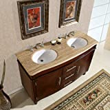 Silkroad Exclusive Bathroom Vanity HYP-0222-T-UWC-55 Cambridge 55''