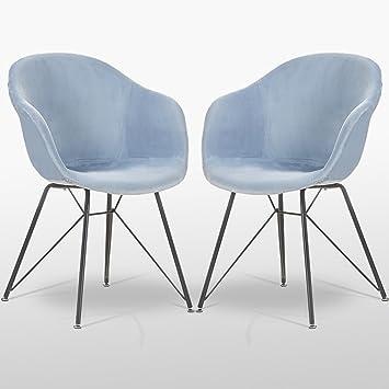 Hervorragend P U0026 N Homewares Valentina Samt Stuhl In Royal Blau (Zwei Stühle)   Für