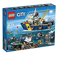 Call in the mighty Deep Sea Exploration Vessel! The Deep Sea Exploration Vessel has a winch, submarine, remote sub, scuba scooter, collapsible shipwreck, treasure, 7 minifigures and more. Recover sunken treasure with the Deep Sea Exploration ...