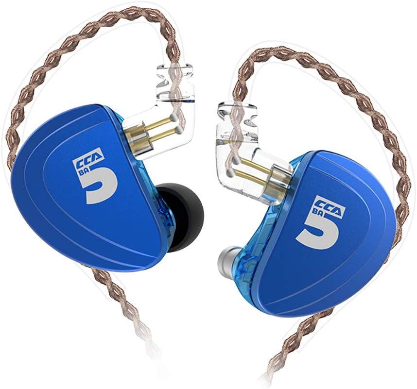 WYKsoku Bluetooth Earphones Headphones, CCA A10 Dual Unit 0.75mm Plug in-Ear Ear Hook Stereo Heavy Bass Wired Earphones - Without Mic