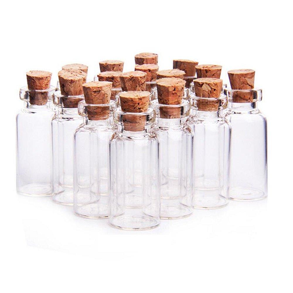 YFZYT tarros de Botellas Transparentes con tapón de plástico para favores de la Boda, contenedores de Cuentas, decoración del hogar, artesanía de Fiesta DIY - 40 Piezas, 25 ML (30 mm * 60 mm) Topfele