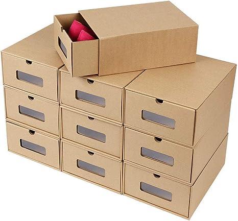 Cajas de cartón para zapatos de 10 piezas, caja de almacenamiento ...