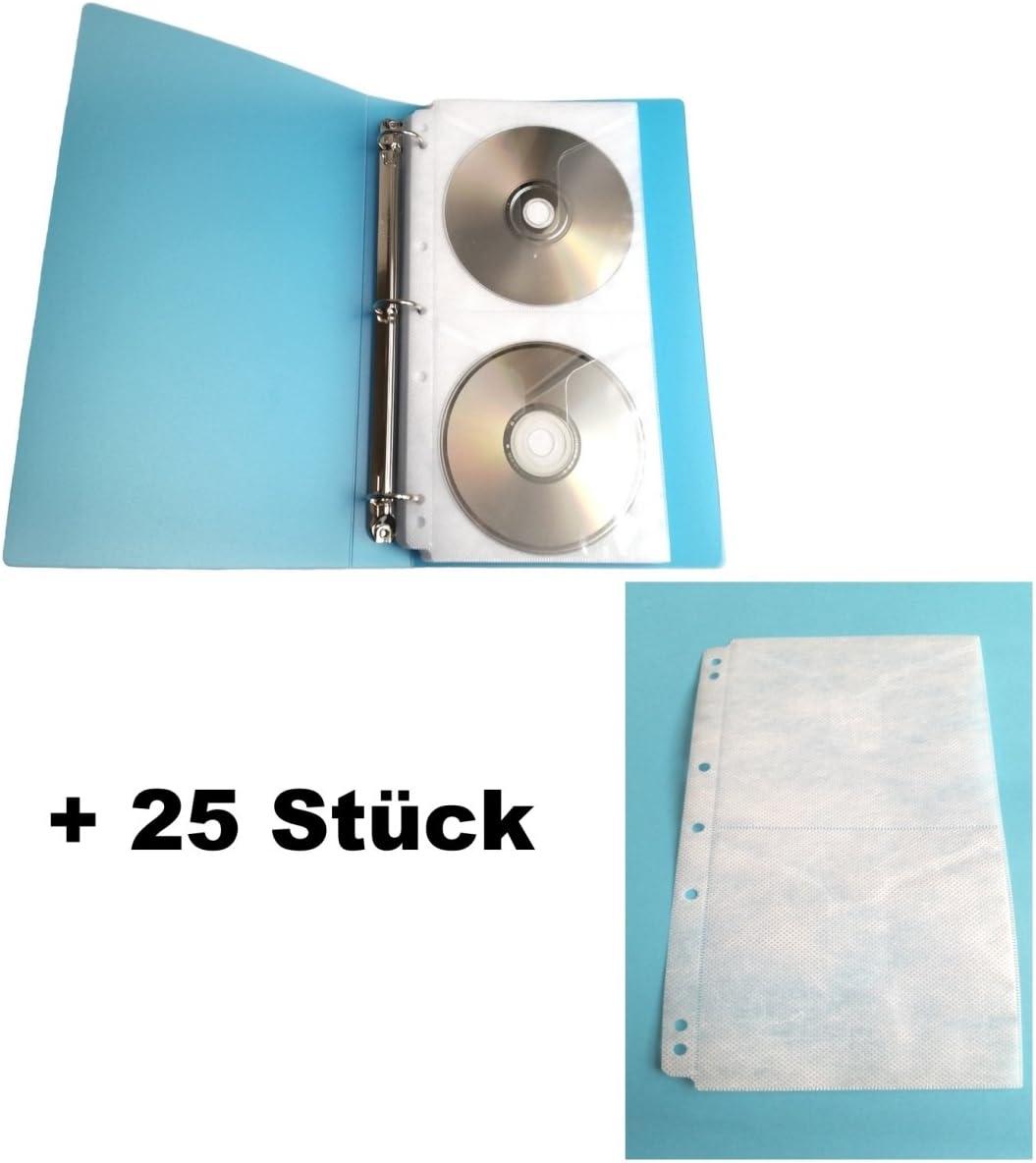 Profesional Office CD de carpeta para 48 CD, incluye fundas + 25 ...
