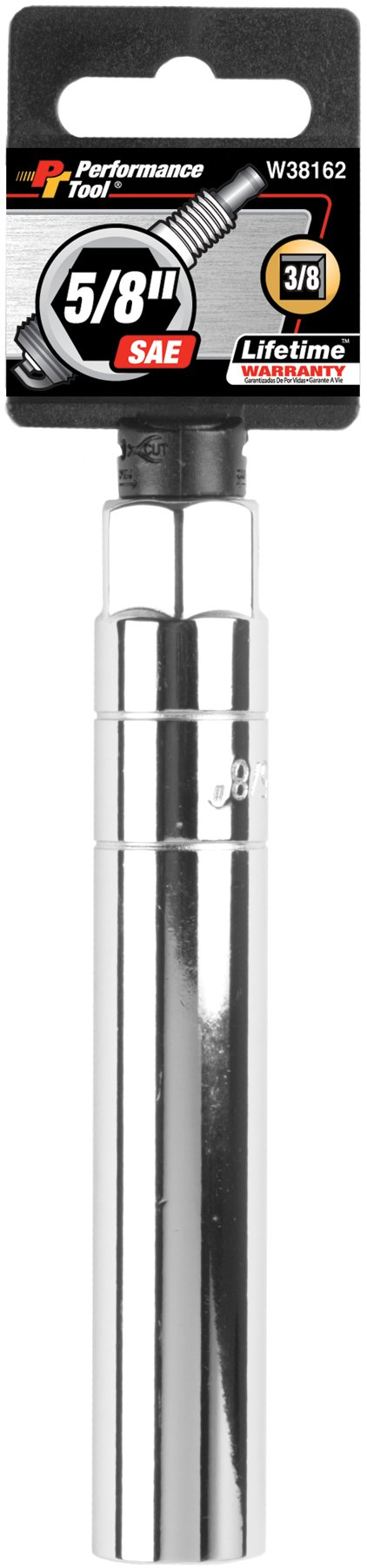Performance Tool W38162 3/8'' Dr 5/8'' Extra Long Spark Plug Socket