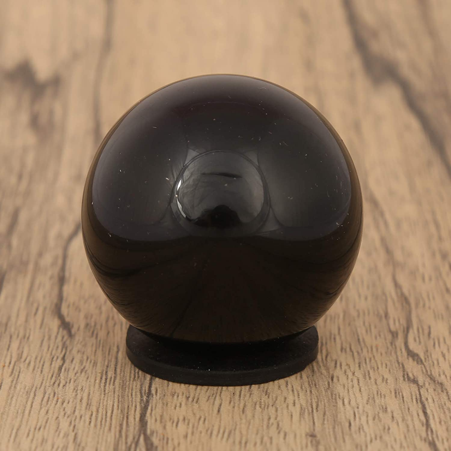 CRAFTSTRIBE Black Tourmaline Sphere Stone Ball with Ring Stand Aura Balancing Crystal