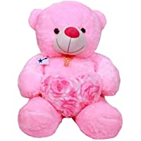 Emutz Very Soft 2 Feet Lovable/Huggable Teddy Bear with Neck Bow for Girlfriend Gift/Boy/Girl ,Pink