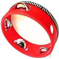 Tambourin en peau de mouton Lumanuby super robuste, diamètre de 15cm, instrument à percussion pour enfants