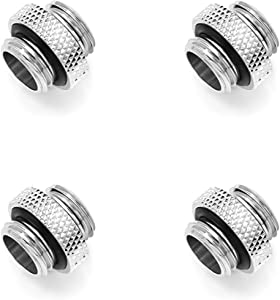 """Barrow G1/4"""" Male to Male Mini Extender Fitting, Silver Shiny, 4-Pack"""