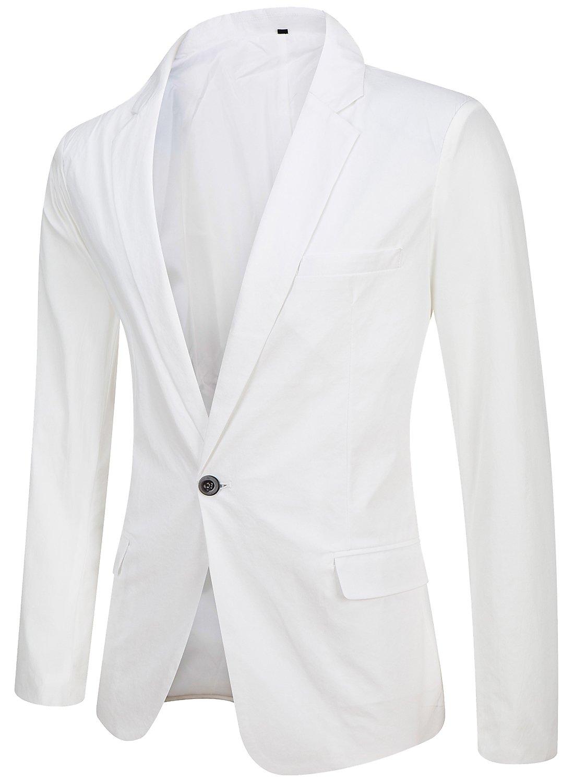 Trensom Men's Blazer White Medium