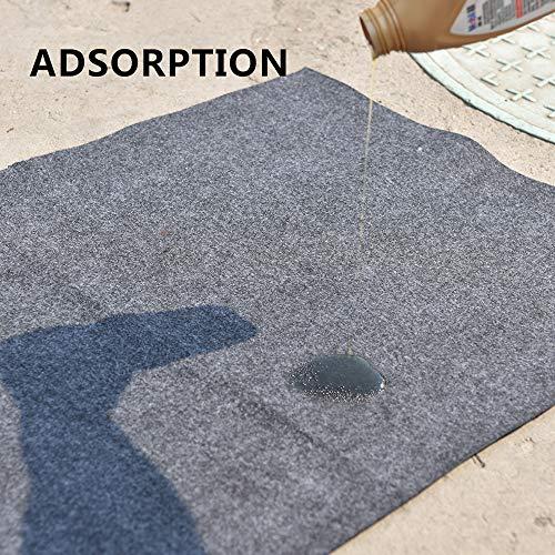 Garage Floor Mat (18' x 7'6''), Absorbent/Waterproof/Lightweight/Washable Garage & Shop Parking Mats by KALASONEER (Image #3)