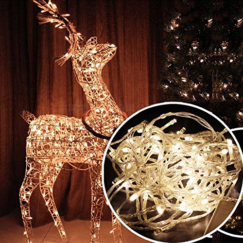 Lily's Gift LED String Lights with 66ft 200LED 8 Modes Irregular Firefly Starry String Light for Patio, Garden, Yard, Square, Chritmas, Wedding Decor (Warm Light) by Lily's Gift (Image #1)