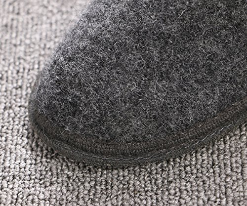 KAPMOZ Clog Shoes Dark House Indoor on Men Slipper Warm and Wool LE Gray for Slip Unisex Mule Women Breathable dwxTnH