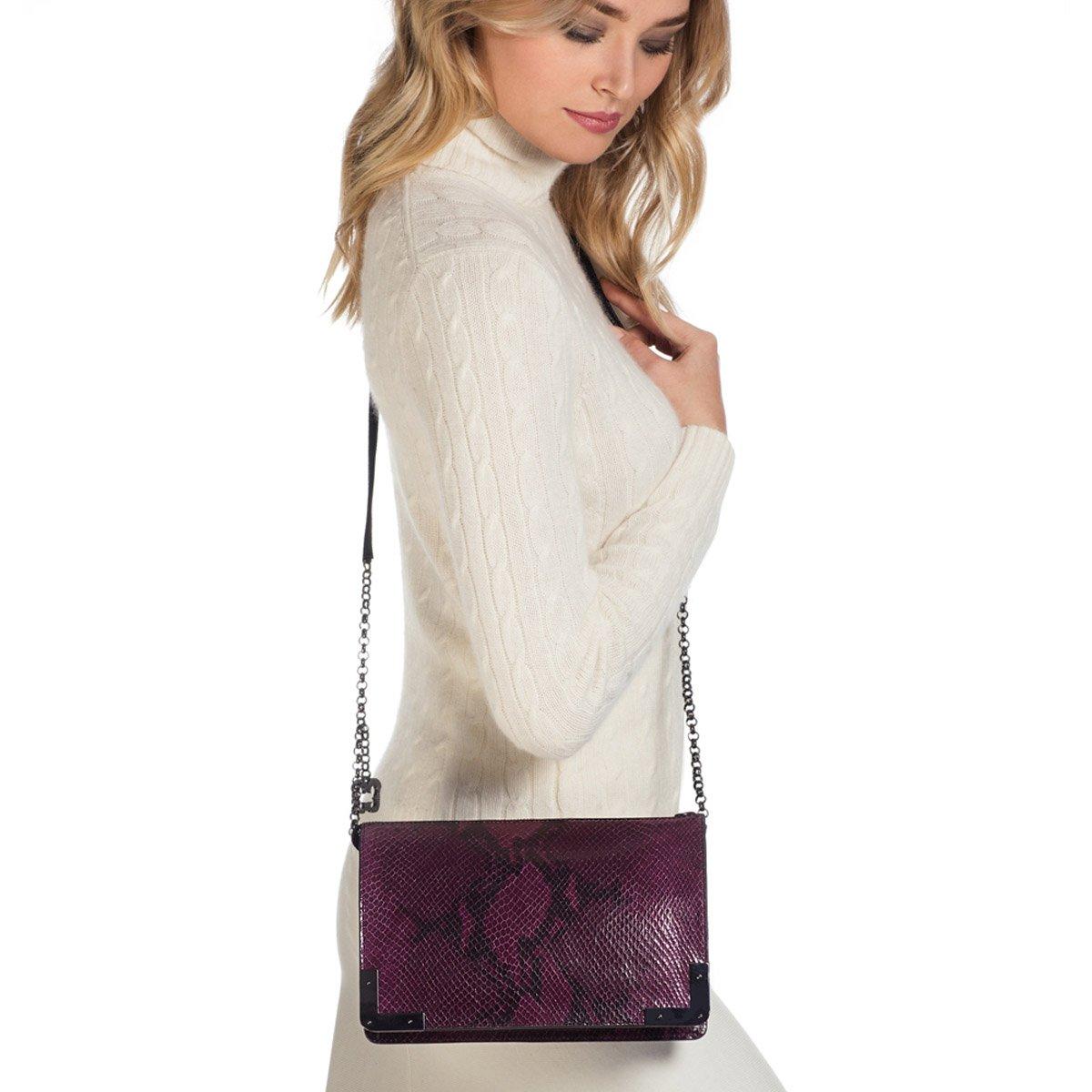 Eric Javits Luxury Fashion Designer Women's Handbag - Perkins II - Plum