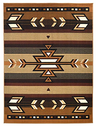 Rugs 4 Less Collection Southwest Native American Indian Area Rug Design R4L SW1 in Beige / Berber (8'x10') by Rugs 4 Less