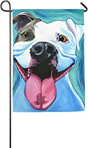 Destiny'S Pitbull Art Garden Flag Indoor & Outdoor Decorative Flags For Parade Sports Game Family Party Wall Banner,12.5 x 18 inch