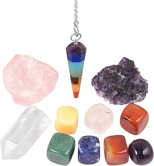 1pc Amethyst Point Crystal Quartz Rock Stone Chakra Yoga Reiki Healing Balance
