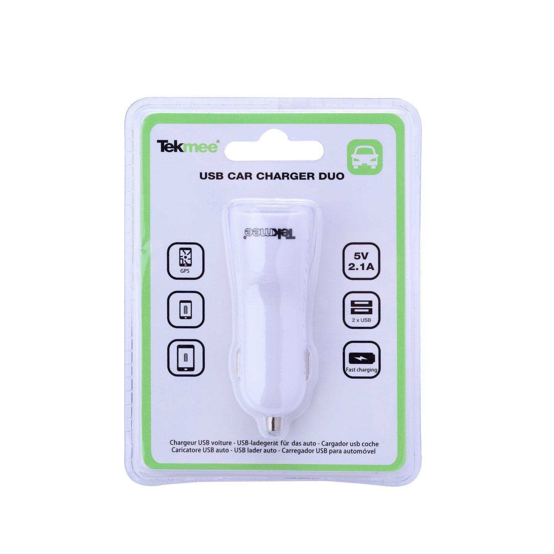 TEKMEE - Cargador de mechero para Coche 2A 2 Puertos USB ...