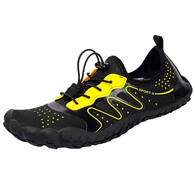 b77074940f7 Amazon.com  Allywit Summer Water Shoes Men Women Quick Drying Swim Surf  Beach Pool Shoes Wide Toe Hiking Aqua Shoes Exercise  Clothing