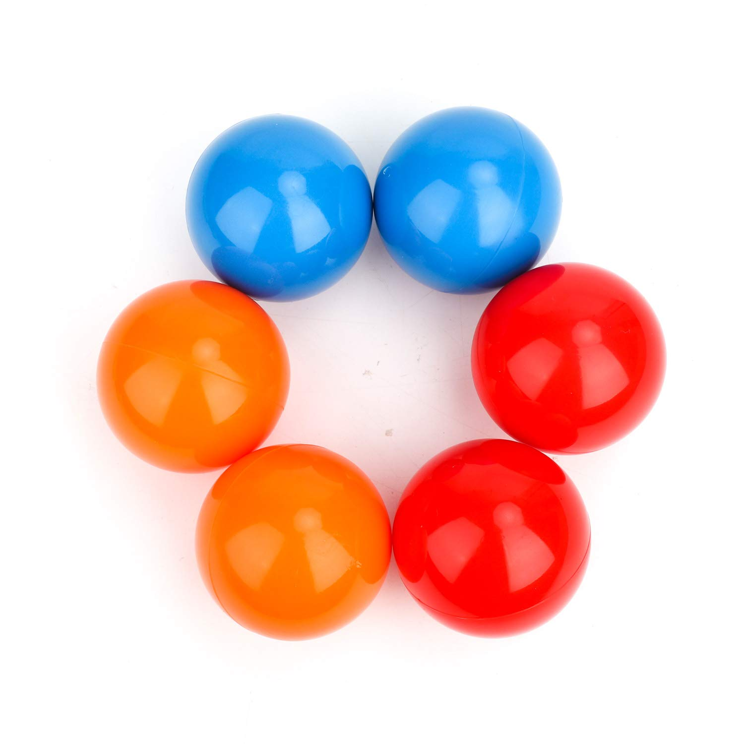 YuXing Professional Juggling Ball, Size 2.6'' to Large 3.5'', Toy Ball Set for Beginners&Professionals, for Adults, Set of 3 or 6 (Red Blue Orange) (2.6'' Juggling Ball Pack of 6)