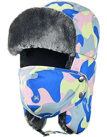 0722b8a5e3764 Tofern Unisex Winter Russian Style Waterproof Plush Ear Flap Trapper  Outdoor Sports Walking Cycling Skiing Hat