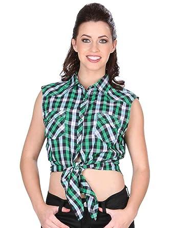 Camisa Vaquera Dama (Blusa) Manga Acero (CLD) El General Green ID 34162