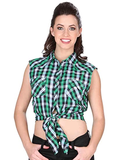 c5b59ce7e Camisa Vaquera Dama (Blusa) Manga Acero (CLD) El General Green ID 34162