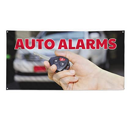 Amazon.com : Auto Alarmas #2 Outdoor Fence Sign Vinyl ...