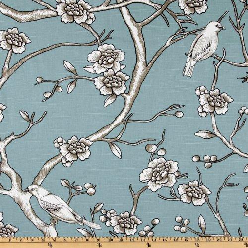 Dwellstudio Bird (Dwell Studio Vintage Blossom Slub Jade Fabric By The Yard)